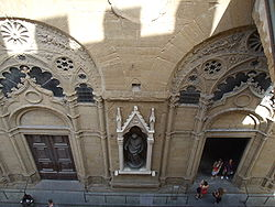 Entrance of Orsanmichele Orsanmichele, view from upfloor
