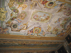 Ceiling frescos in the main corridor-UffiziCeiling